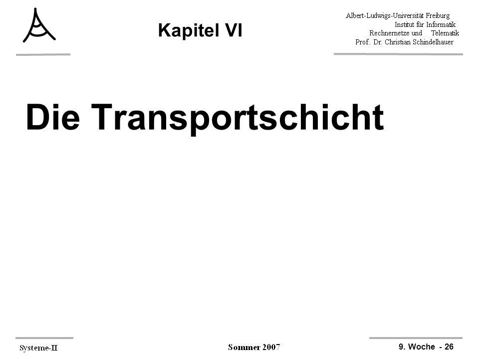 Kapitel VI Die Transportschicht