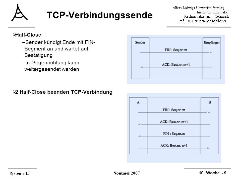 TCP-Verbindungssende