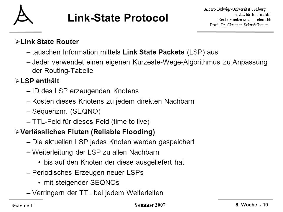 Link-State Protocol Link State Router
