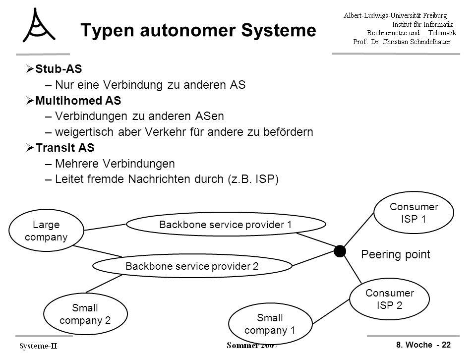 Typen autonomer Systeme
