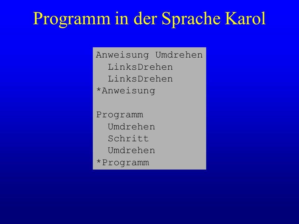 Programm in der Sprache Karol
