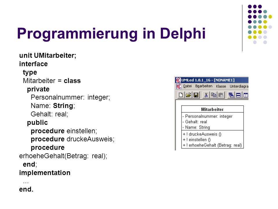 Programmierung in Delphi