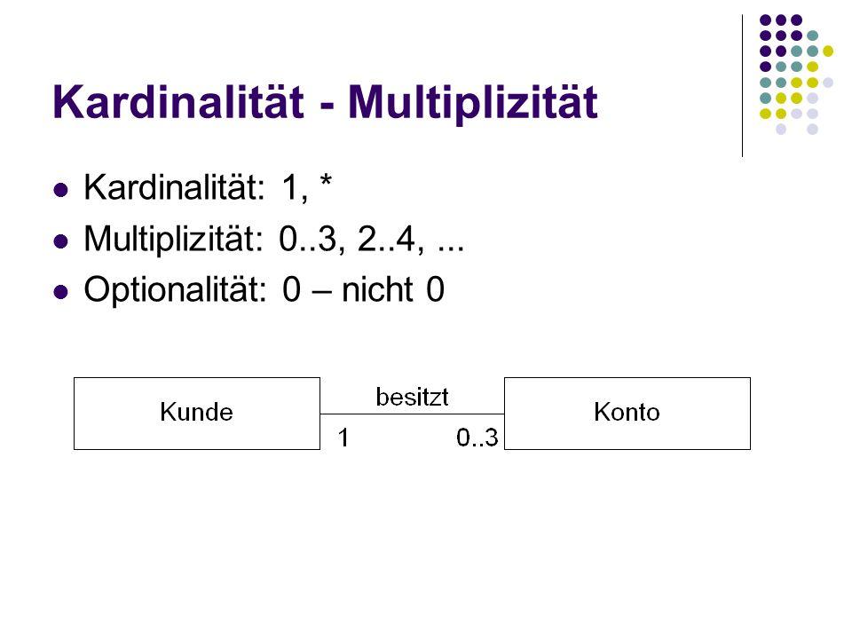 Kardinalität - Multiplizität