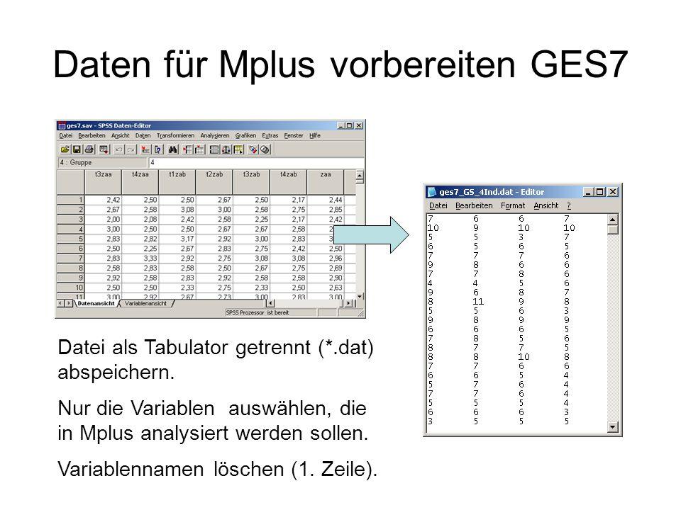 Daten für Mplus vorbereiten GES7