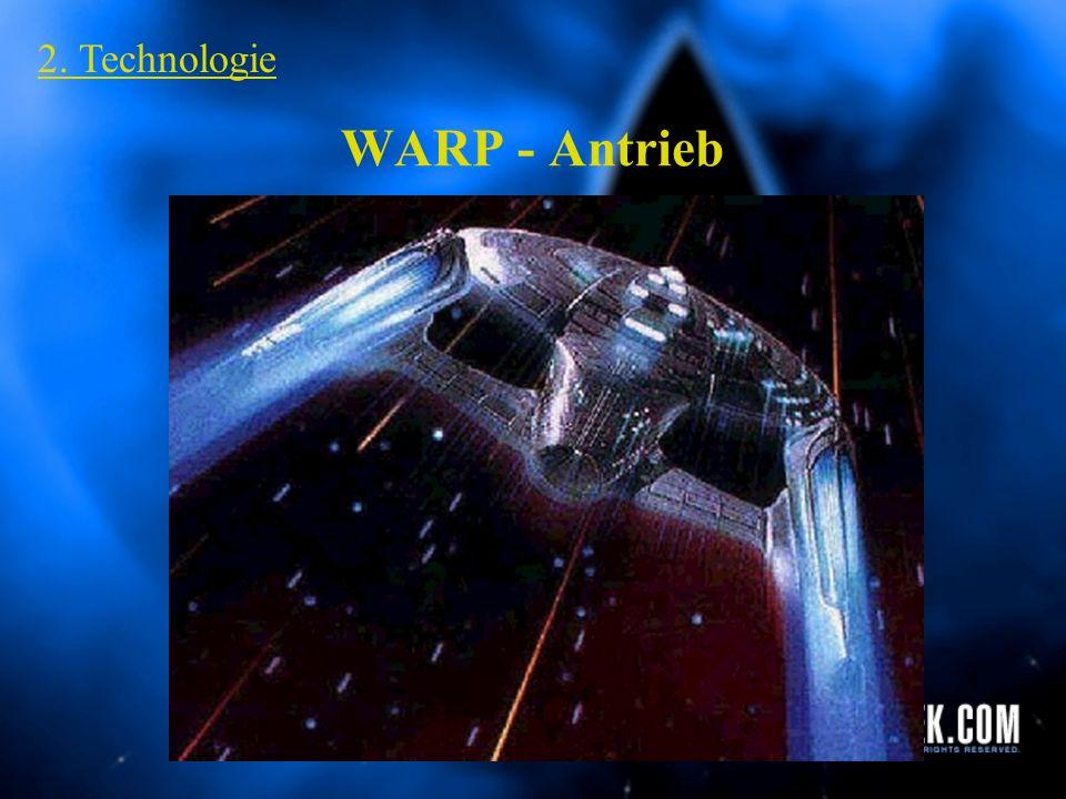 2. Technologie WARP - Antrieb