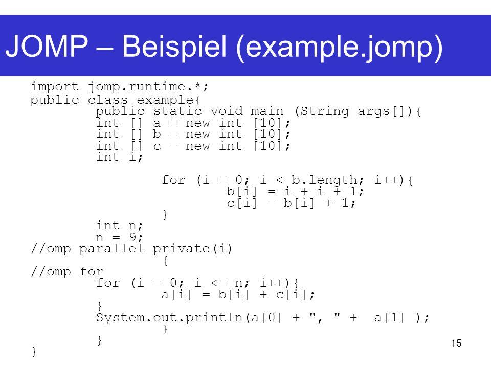 JOMP – Beispiel (example.jomp)