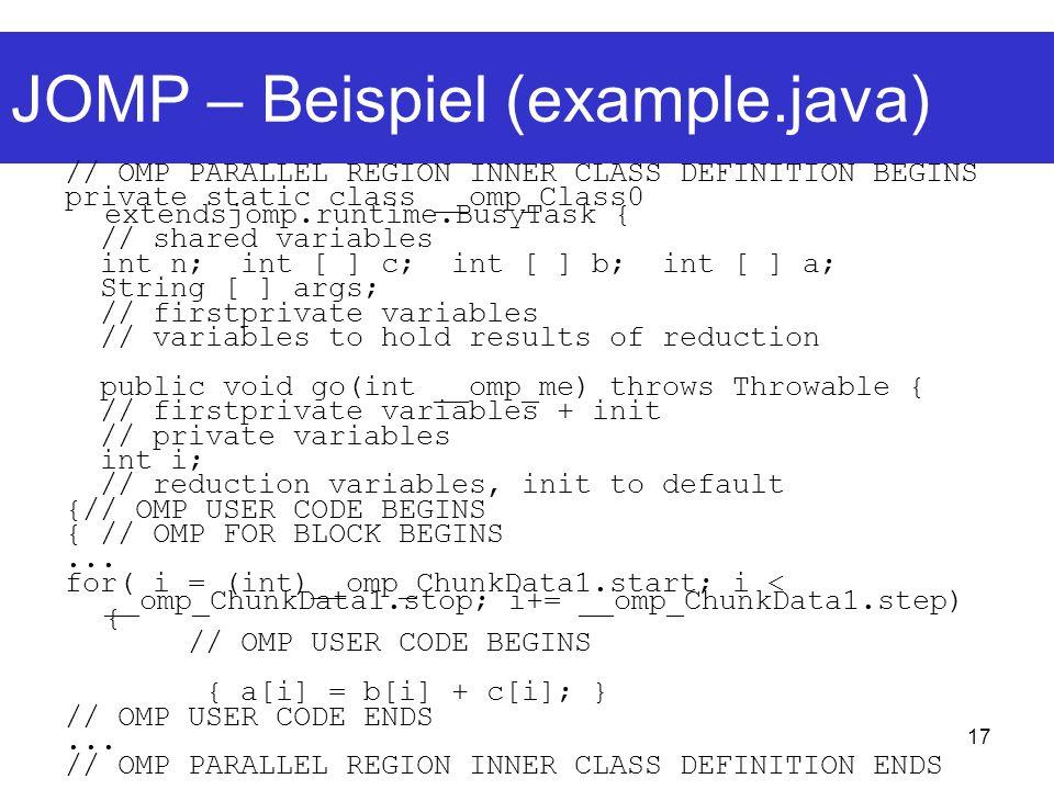 JOMP – Beispiel (example.java)