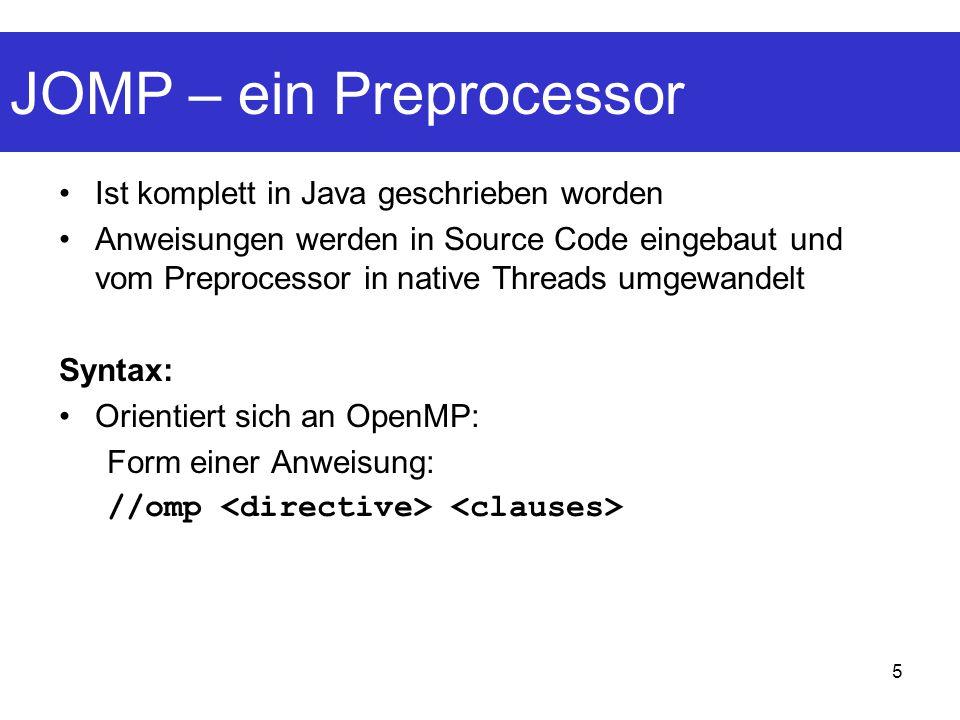 JOMP – ein Preprocessor