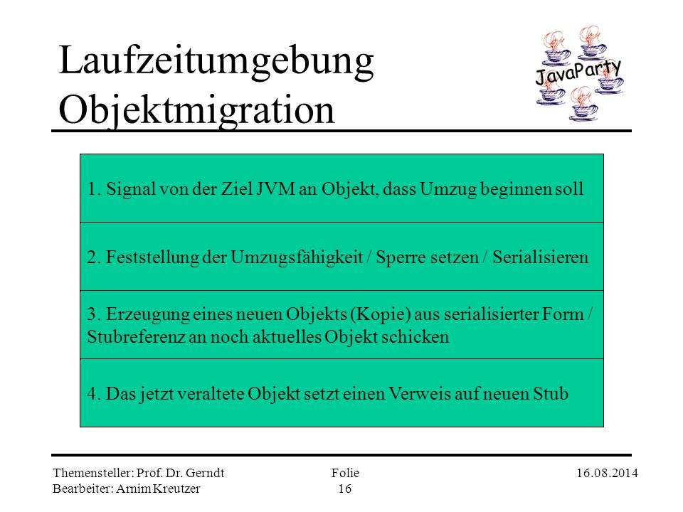 Laufzeitumgebung Objektmigration