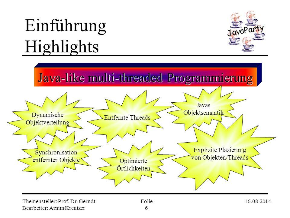 Einführung Highlights