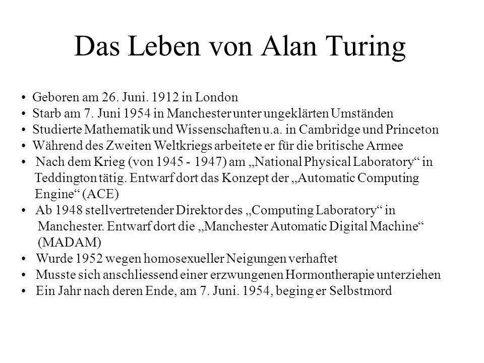 Das Leben von Alan Turing
