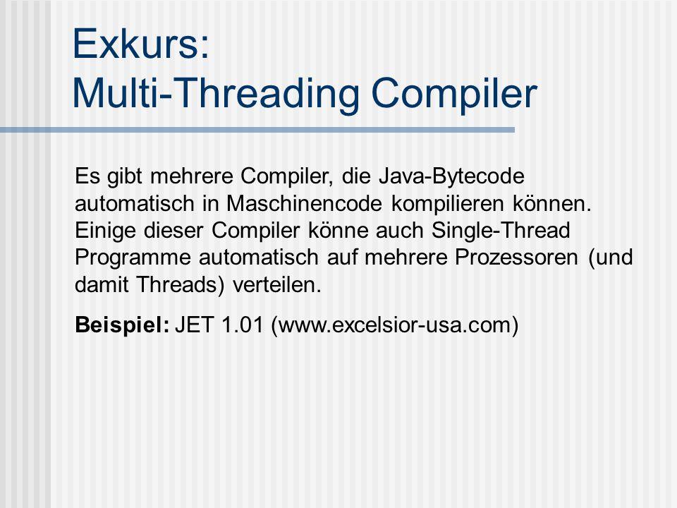 Exkurs: Multi-Threading Compiler