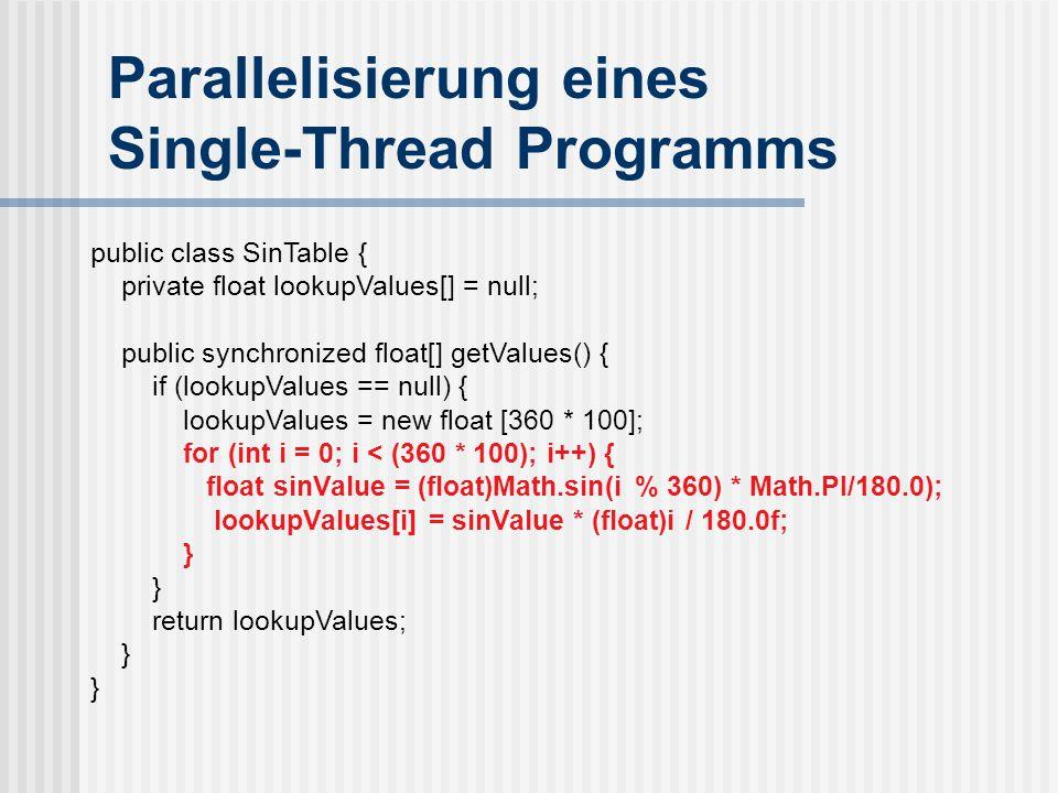 Parallelisierung eines Single-Thread Programms