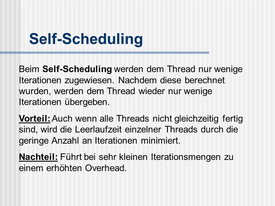 Self-Scheduling
