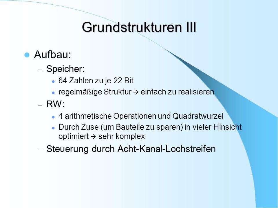 Grundstrukturen III Aufbau: Speicher: RW: