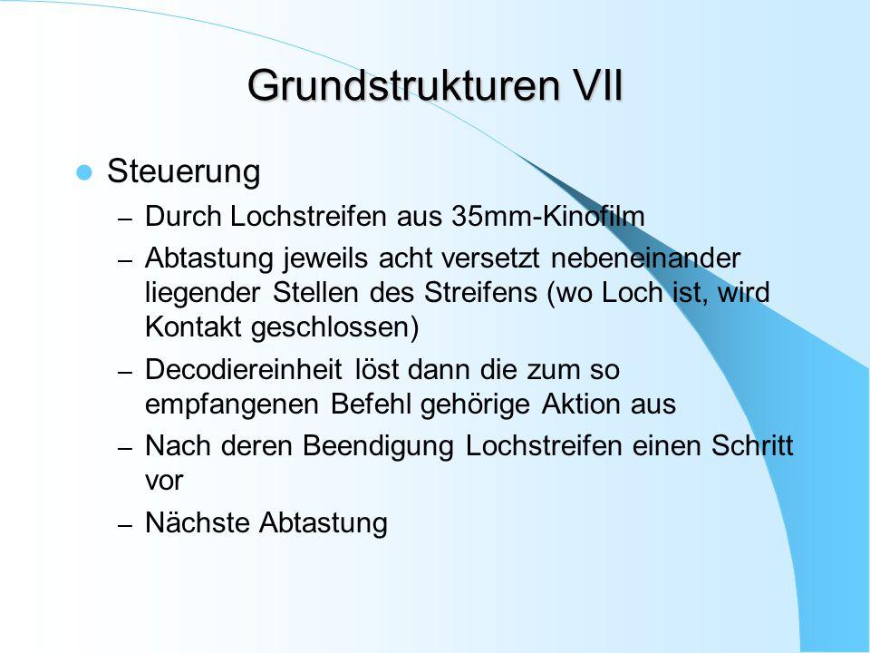 Grundstrukturen VII Steuerung Durch Lochstreifen aus 35mm-Kinofilm