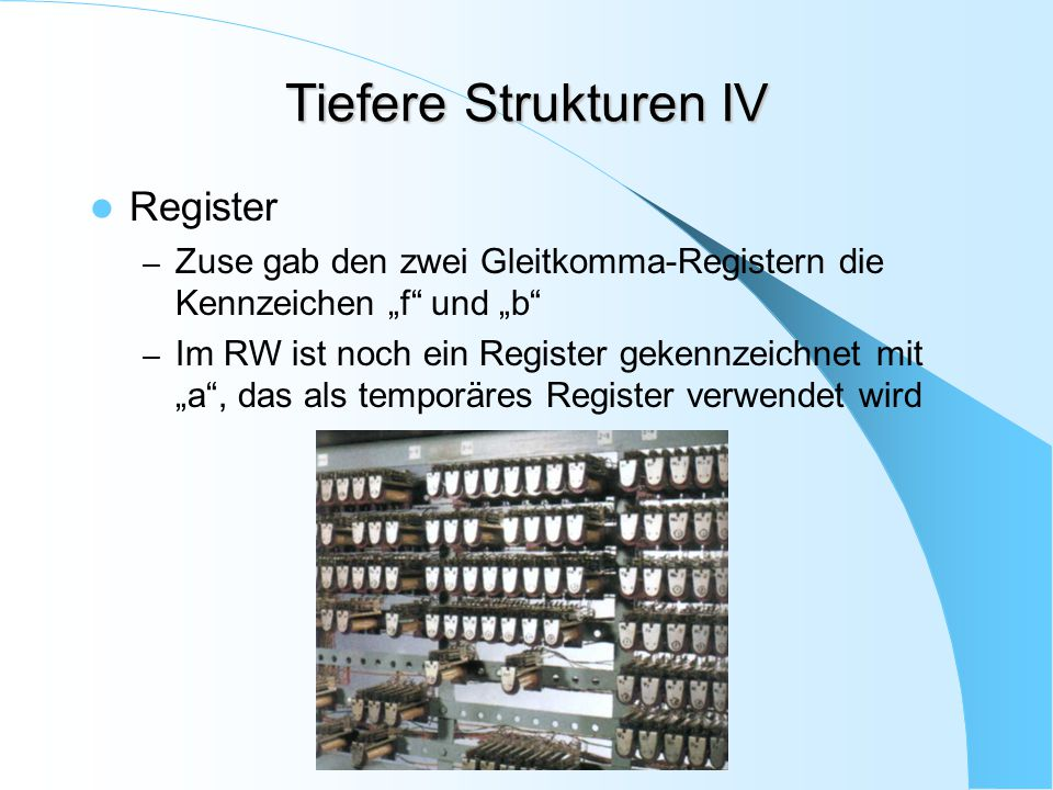 Tiefere Strukturen IV Register