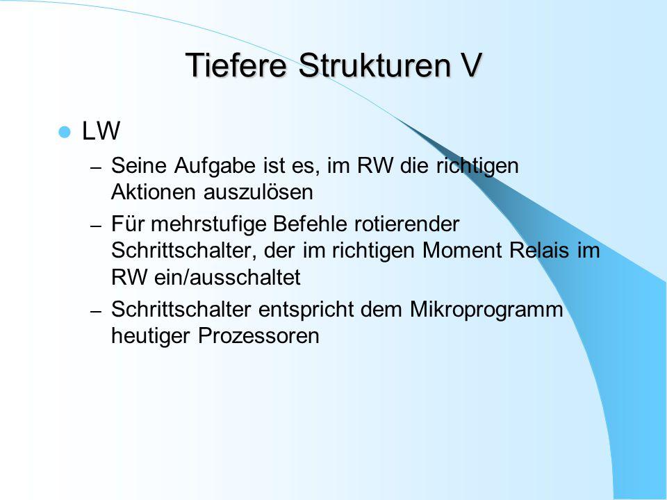 Tiefere Strukturen V LW