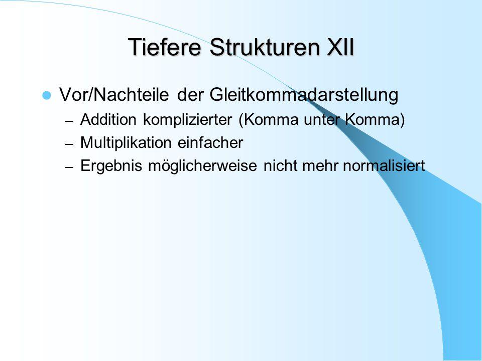 Tiefere Strukturen XII