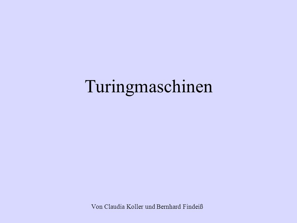 Von Claudia Koller und Bernhard Findeiß
