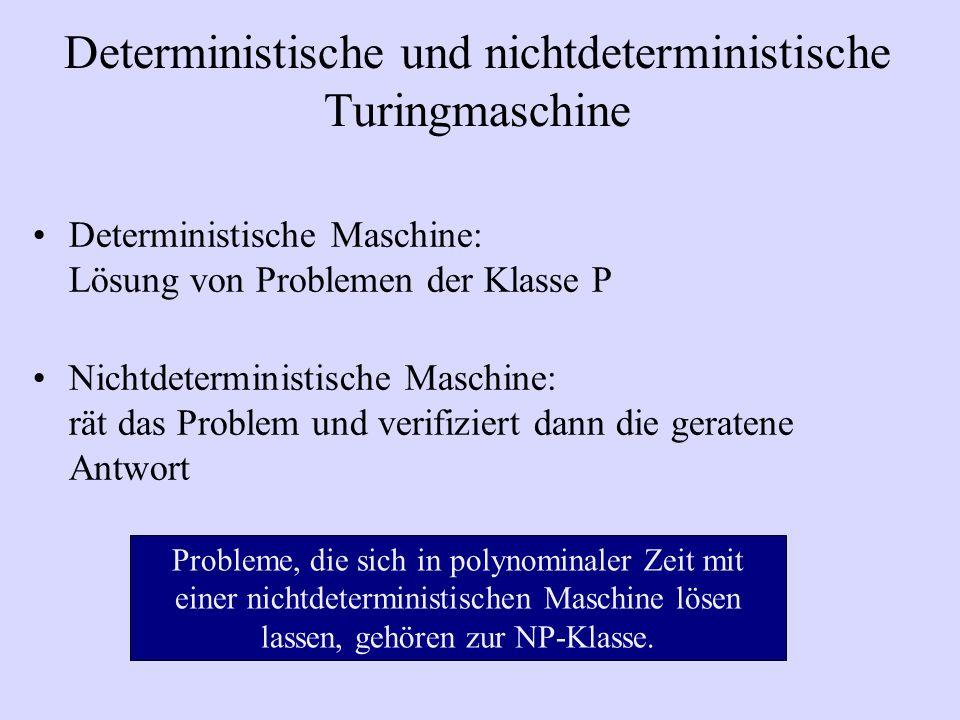 Deterministische und nichtdeterministische Turingmaschine