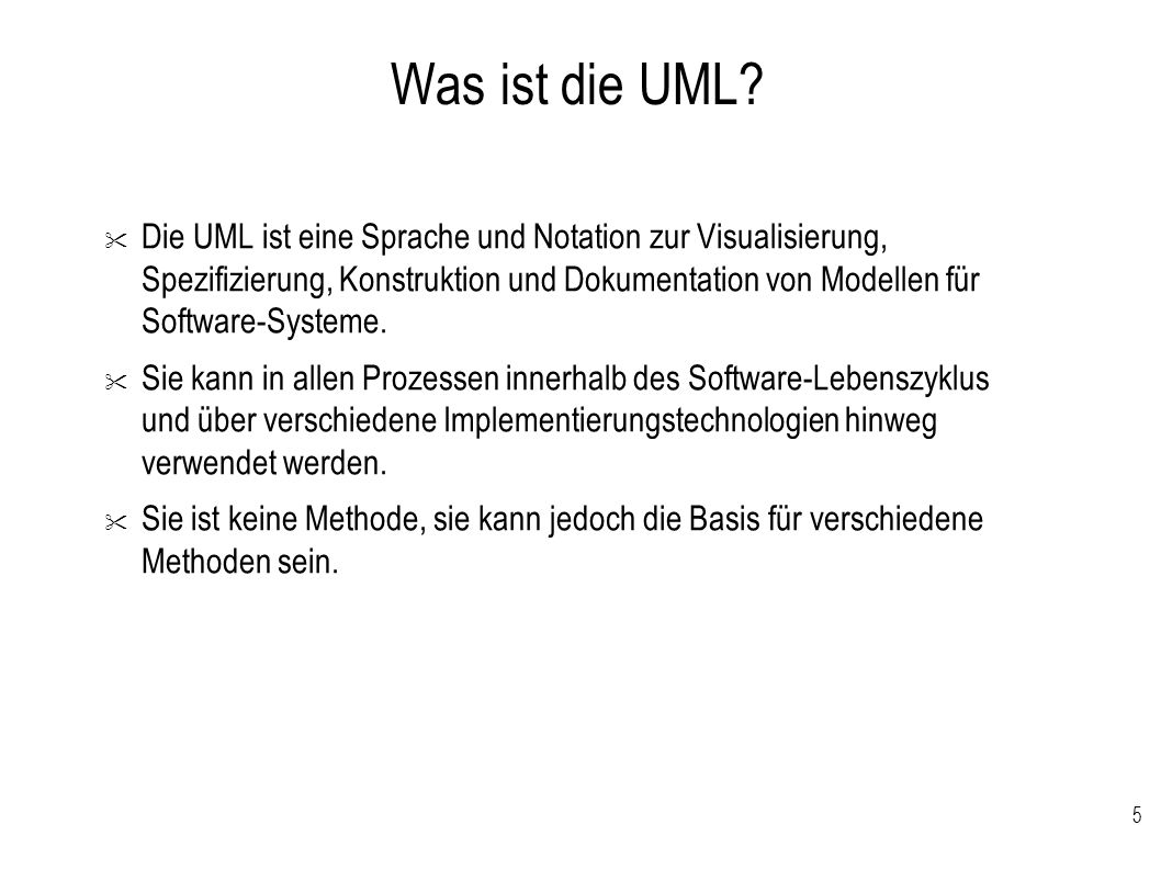 Was ist die UML