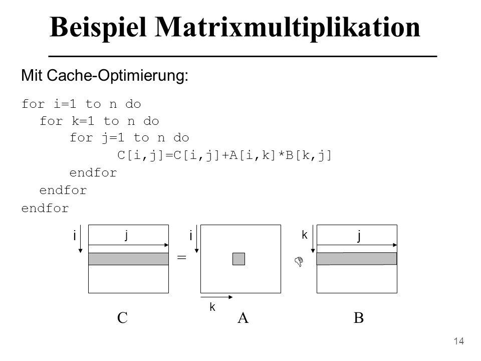 Beispiel Matrixmultiplikation