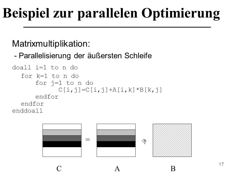 Beispiel zur parallelen Optimierung