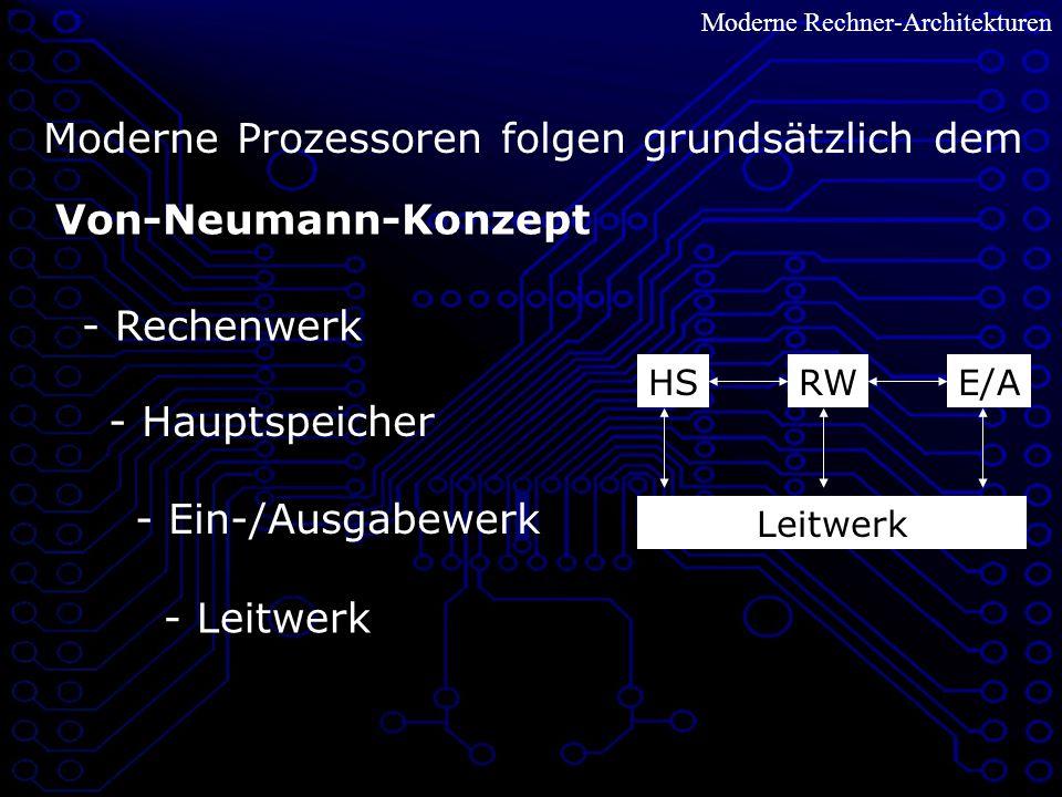 Moderne Prozessoren folgen grundsätzlich dem