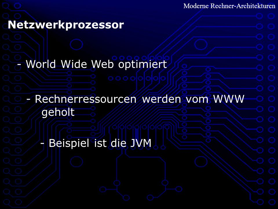 - World Wide Web optimiert