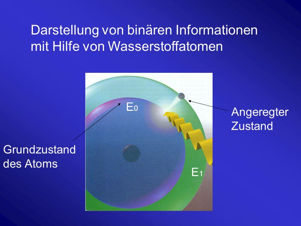 Darstellung von binären Informationen mit Hilfe von Wasserstoffatomen