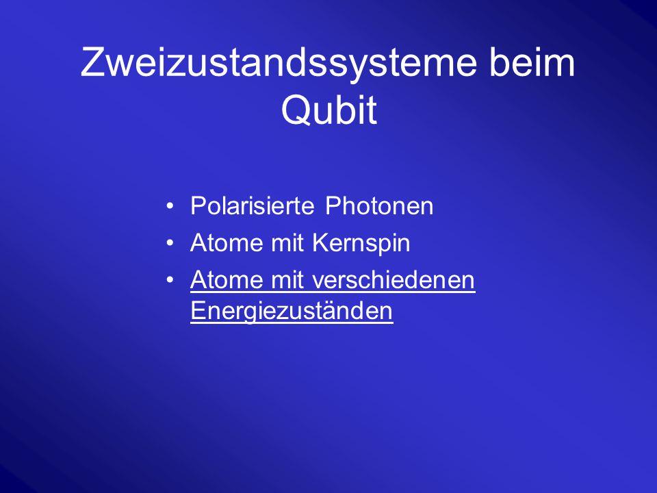 Zweizustandssysteme beim Qubit