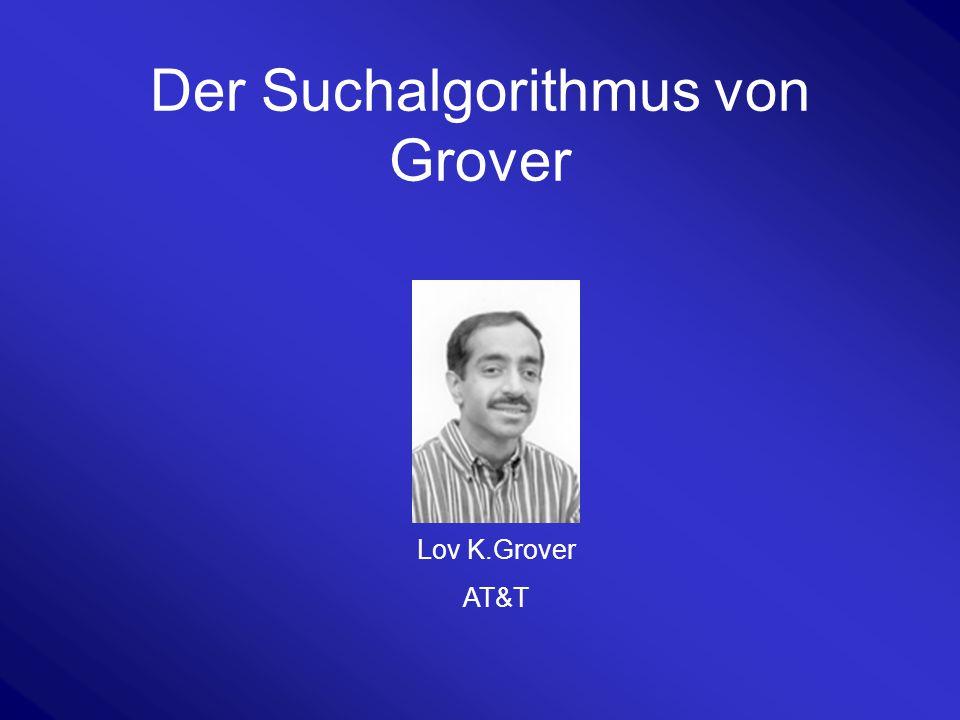 Der Suchalgorithmus von Grover