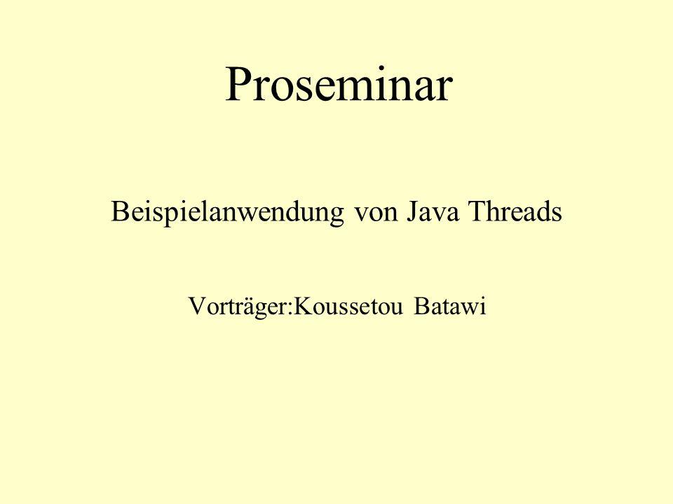 Beispielanwendung von Java Threads