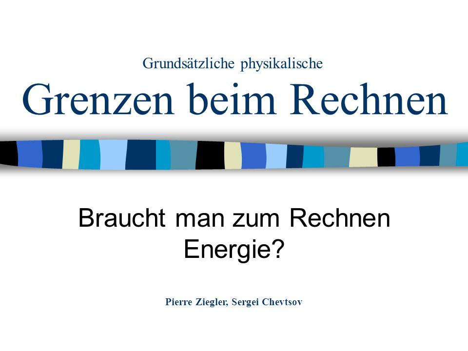 Braucht man zum Rechnen Energie