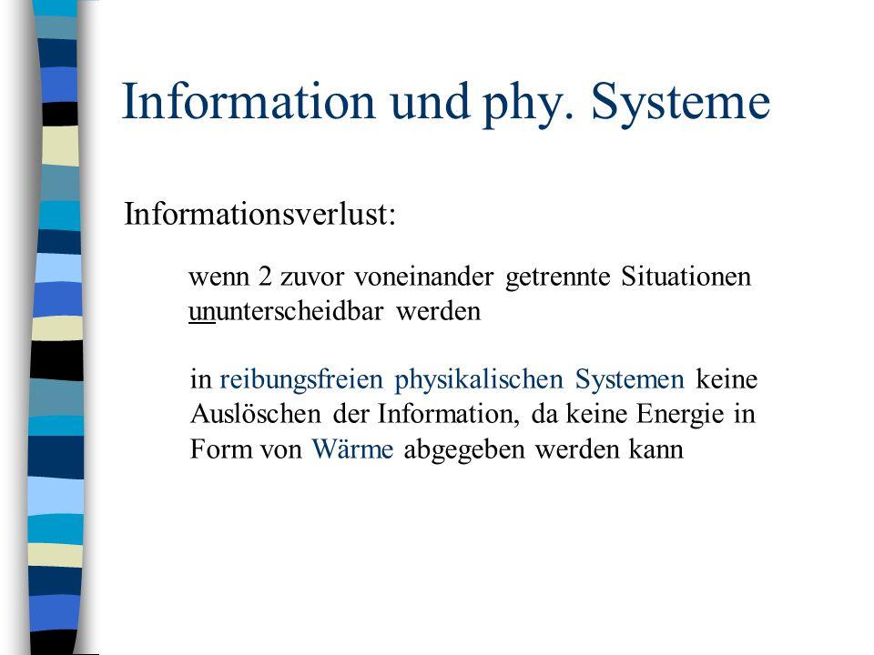 Information und phy. Systeme