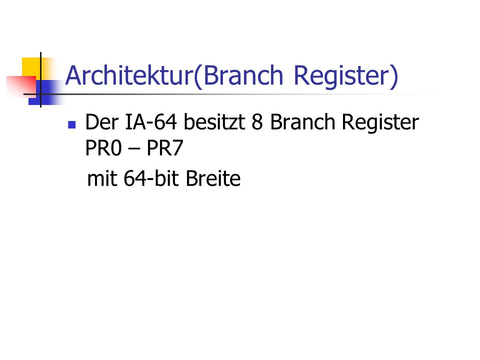 Architektur(Branch Register)