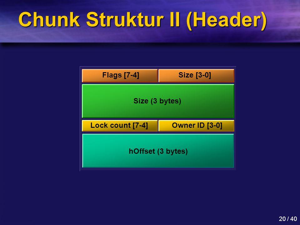 Chunk Struktur II (Header)