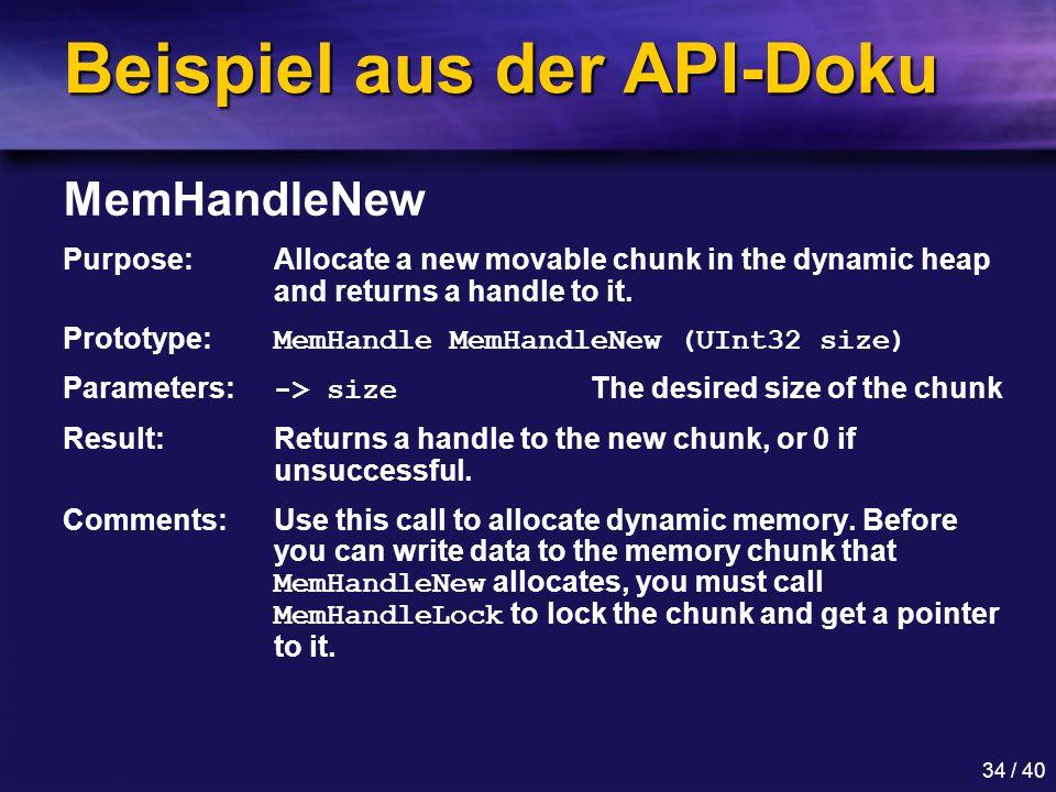 Beispiel aus der API-Doku
