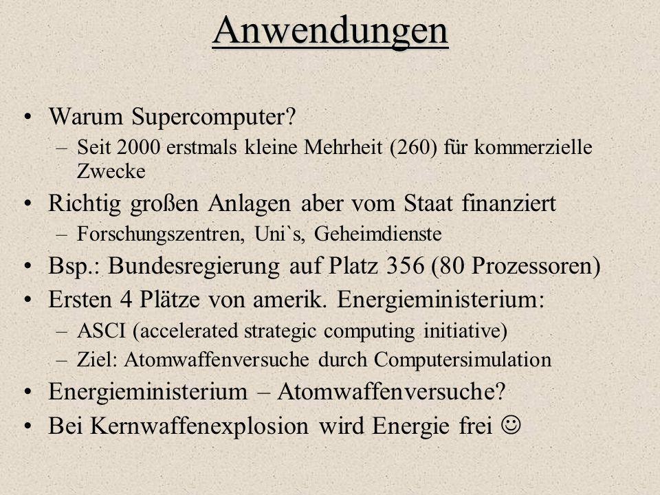 Anwendungen Warum Supercomputer