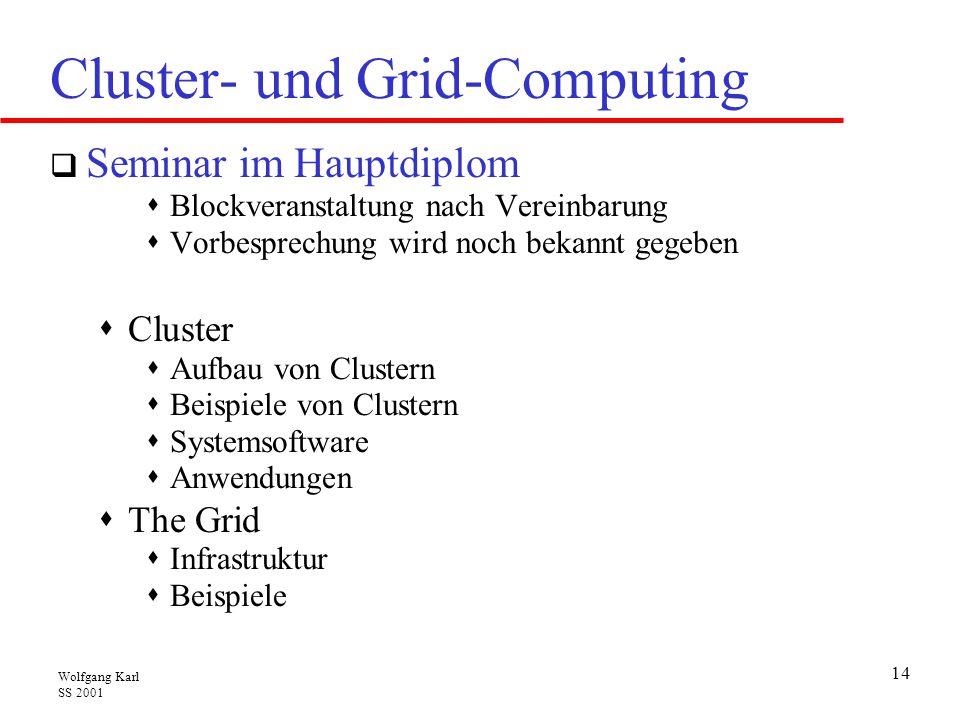 Cluster- und Grid-Computing