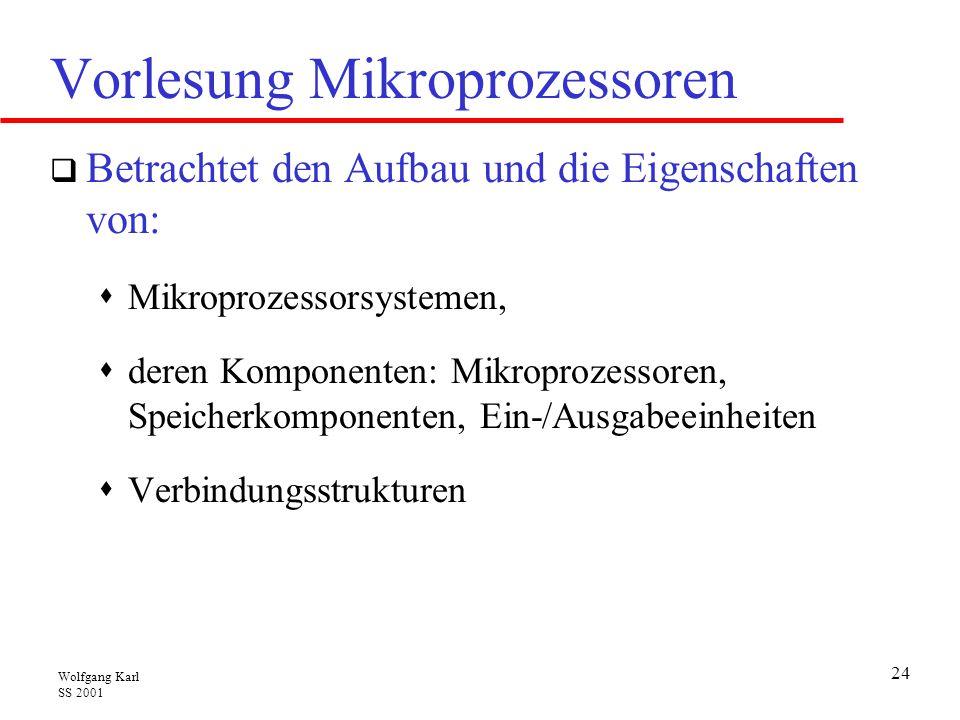 Vorlesung Mikroprozessoren