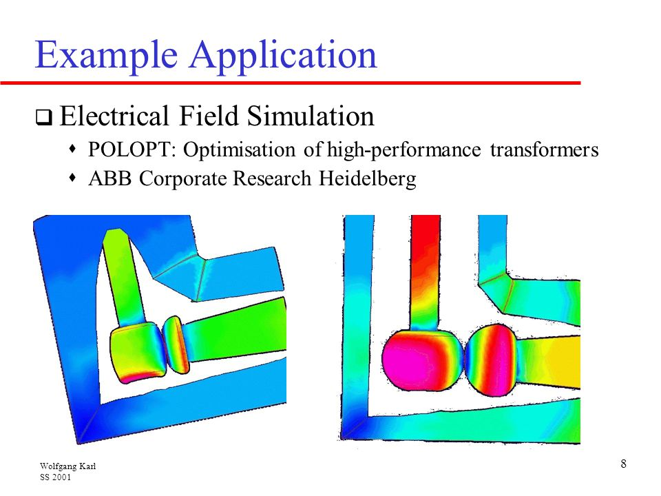Example Application Electrical Field Simulation