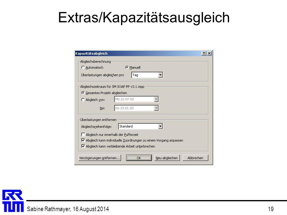 Extras/Kapazitätsausgleich