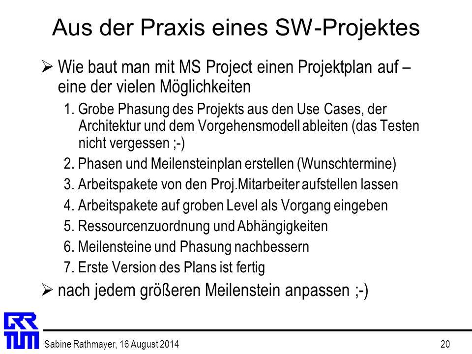 Aus der Praxis eines SW-Projektes