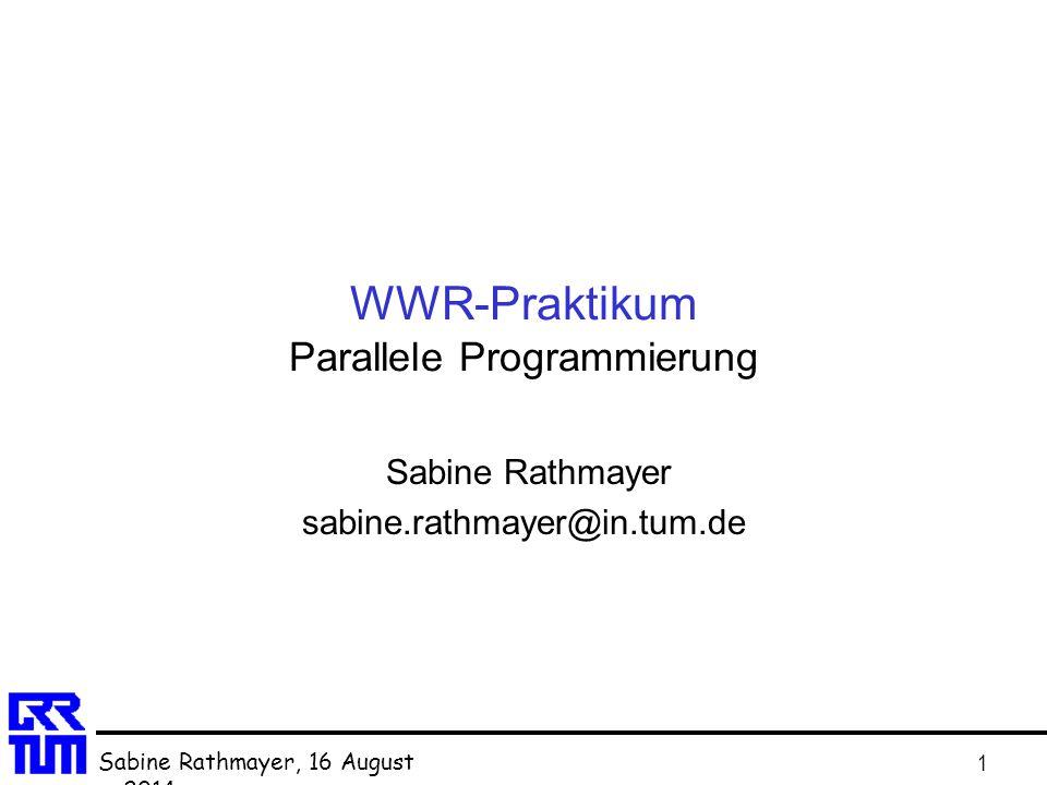 WWR-Praktikum Parallele Programmierung