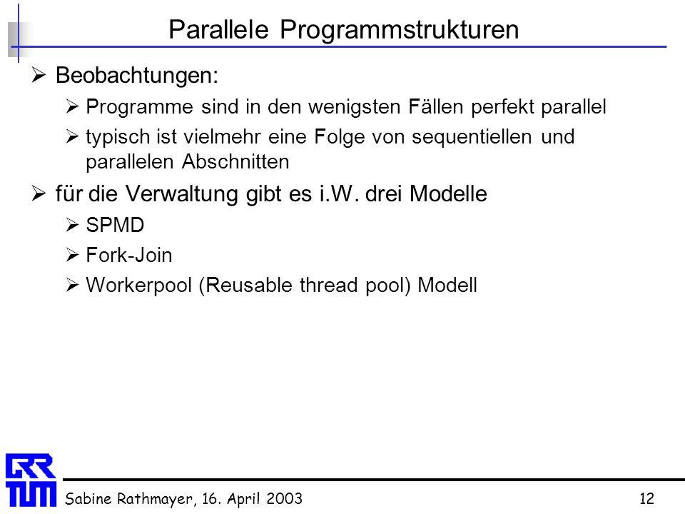 Parallele Programmstrukturen
