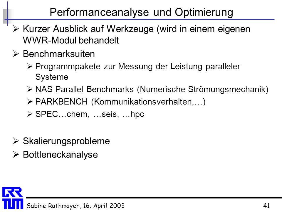 Performanceanalyse und Optimierung