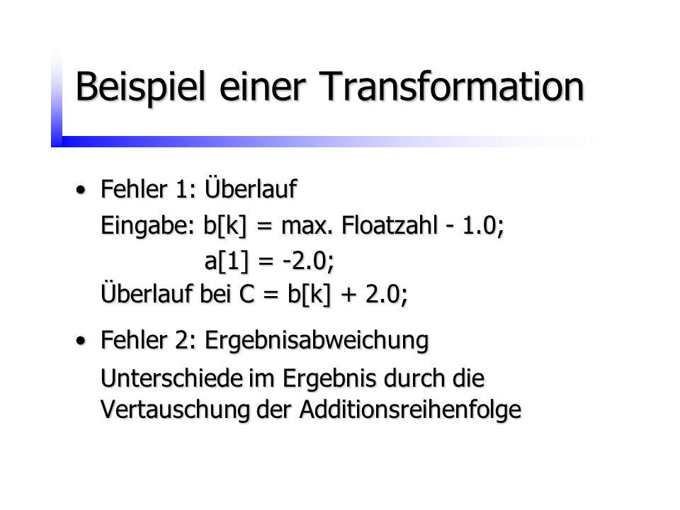 Beispiel einer Transformation