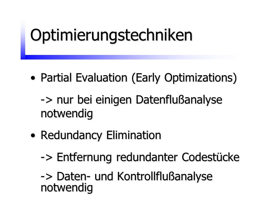 Optimierungstechniken
